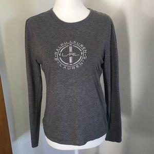 Ralph Lauren long sleeve tee heather gray cotton